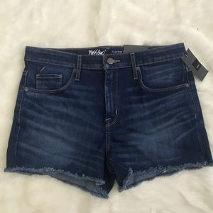 Mossimo High Rise Power Stretch Denim Shorts